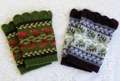 Ravelry: Wintertide Wristlets pattern by Karen Porter Knitted Gloves, Knitted Bags, Ravelry, Happy Spring, Spring Sale, Fingerless Mitts, Knitting Accessories, Accent Colors, Knitting Projects