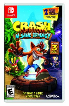 Crash Bandicoot N Sane Insane Trilogy 3 Adventure Games Nintendo Switch Game NSW Crash Bandicoot, Nintendo Switch Games, Nintendo Ds, Tmnt, Mortal Kombat Xl Ps4, Playstation, Top Toys For Boys, Minions, Principles Of Animation