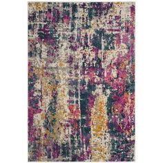 "World Menagerie Carrillo Ivory/Blue Area Rug Rug Size: Rectangle 5'1"" x 7'6"""
