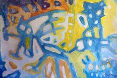 """""""Pintura 157"""" Óleo sobre cartulina 34 x 49 cms 2006"""