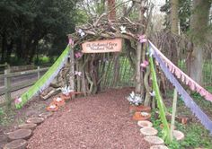 The Enchanted Fairy Walk : Class construction project (use natural materials)