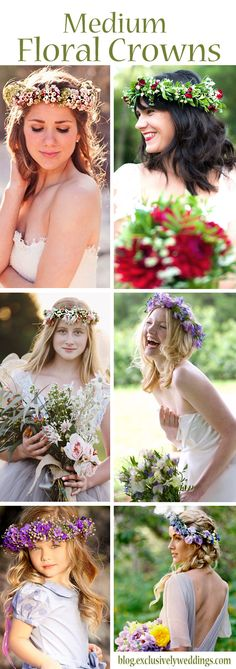 Floral crowns, also called floral hair wreaths or flower crowns, have been around since ancient times and their popularity has seen its ups and downs throughout the years.