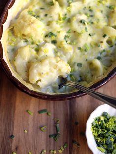 Norwegian Recipes, Norwegian Food, Vegan Dishes, Mozzarella, Mashed Potatoes, Nom Nom, Food And Drink, Keto, Ethnic Recipes