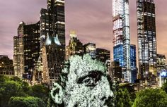 Immersive Portrait Projection in Central Park