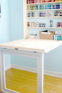 Fold up craft desk/picture frame
