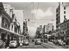 Post war Durban with tramlines, for trolley buses
