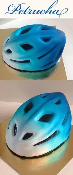 cyclist helm 3D cake