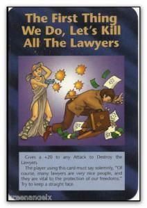 Illuminati Card The First Thing We Do Lets Kill All The Lawyers