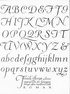 french script                                                       …