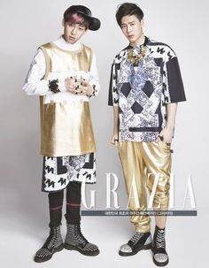- Grazia Magazine February Issue // BamBam and Jackson