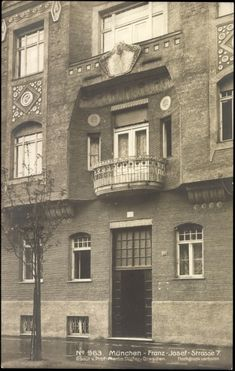 House of Prof. Martin Dülfer, Franz Josef Straße 7 (postcard around 1910)