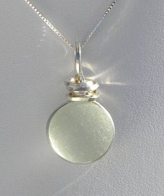 wire wrapped sea glass | 60 Sea Glass Necklace-Seafoam Green Wire Wrapped SeaGlass Necklace in ...