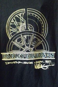 aa8caff9f90 HARLEY DAVIDSON Willie G Size Medium Long Sleeve 1997 Daytona Bike Week T  Shirt  HarleyDavidson