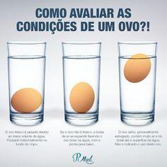 Você já sabe que o ovo é um alimento completo e super saudável mas sabe descobrir se ele está bom para consumo? Basta seguir esse jeito muito fácil de verificar se os ovos estão frescos. Bom apetite! #ovos #ovo #alimentacao #alimentacaosaudavel #dieta #3vezesmaissaude #pimed #drjpimentel