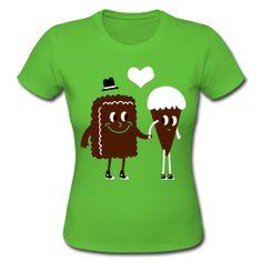 25,40 € . Camiseta Chica, Amor de Chocolate, Camisetas Chica