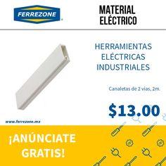 #Electricidad #MaterialEléctrico #Canaleta http://www.ferezone.mx El mercado ferretero de México