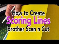 Brother Scan n Cut: Creating Score Lines Using the Path Tool - Canvas Tutorial - YouTube