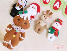 Moldes Gratuitos de Natal - Download de Lindos Moldes Natalinos! Reno, Gingerbread, Dolls, Christmas Ornaments, Holiday Decor, Craft Items, Christmas Crafts, Xmas, Felt Crafts