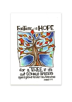 HAND LETTERED DRAWING For There Is Hope. From by joyfulinkdotcom, $20.00