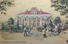 Concept Artwork for The Grand Palace Theater in Branson, Missouri
