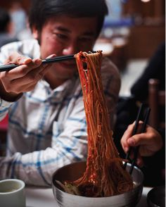 Recipe for Spicy Korean Noodles with Pickled Watermelon from The Starry Kitchen Cookbook.