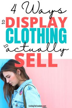 Learn the 4 best ways to display clothing so that it will actually sell! #reselling   #poshmarktips   #makemoneyfast   #sidehustleideas   #makeextramoney   #sidejobs   #makemoney   #easywaystomakemoney   #howtomakemoney   #ebaytips Make Money Today, Make Money Fast, Make Money From Home, Female Torso, Model Outfits, Flatlay Styling, Finance Tips, Selling On Ebay, Taking Pictures