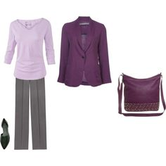 """Light Summer - plum and pale purple"" by adriana-cizikova on Polyvore"