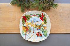 Check out this item in my Etsy shop https://www.etsy.com/listing/543946628/winter-ceramic-wall-hanging-plate