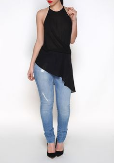 ONE SIDED TOP (Black) from Kosmios