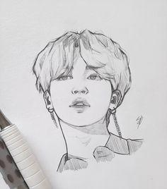 Music Drawings, Kpop Drawings, Art Drawings Sketches Simple, Pencil Art Drawings, Easy Drawings, Nature Sketch, Korean Art, Digital Art Girl, Art Sketchbook