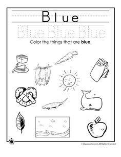 Learning Colors Worksheets for Preschoolers Color Blue Worksheet – Classroom Jr.
