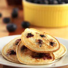 Make the Soza pancakes and put blueberries or raspberries in the batter like this!!!