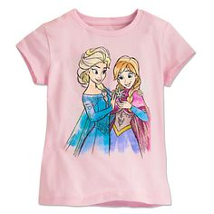 Anna and Elsa Tee for Girls | Disney Store