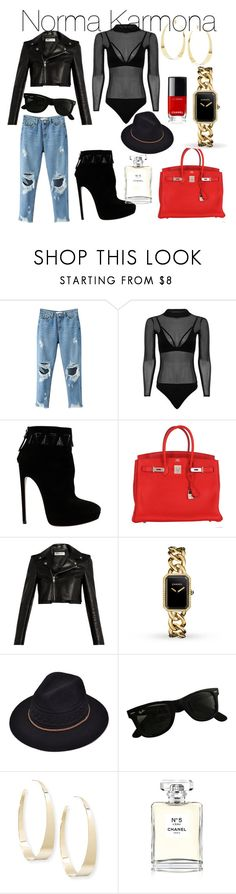 """""""Norma Karmona"""" by normakarmona on Polyvore featuring Alaïa, Hermès, Yves Saint Laurent, Chanel, Ray-Ban, Lana and ADNNormaKarmona"""