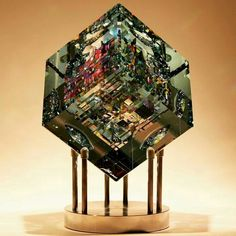 Jack Storms cold glass sculpture