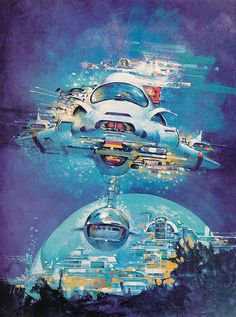 don maitz - artwork for the isaac asimov book series 'lucky starr & the oceans of venus'