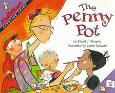 The Penny Pot (MathStart Murphy, Stuart J., Good Book for Like the The Penny Pot (MathStart Murphy, Stuart J. Teaching Money, Teaching Math, Teaching Ideas, Maths, Math Classroom, Kindergarten Math, Classroom Ideas, Preschool, Elementary Math