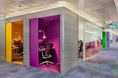 Mercado Libre offices by Contract Workplaces, Alem – Argentina Corporate Office Design, Office Space Design, Modern Office Design, Workplace Design, Office Interior Design, Office Interiors, Office Pods, Tiny Office, Cool Office