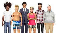 Fashion ecommerce site Lyst created a line of diverse male Ken dolls with graphic artist Jamie Phillips in response to diverse body type Barbie. Dad Bod Ken...LOL