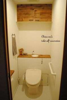 トイレ改造計画 その③ ~ほぼ完成~ の画像|Chairs and. ナチュラルなインテリアと雑貨と手作りと、日々のこと。