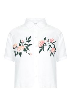 White Embroidered Shirt - Blouses & Shirts - CLOTHING