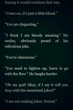 "Harry's period jokes in the fanfic ""After"" OMG I died"