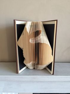 Bunny Rabbit Book Folding Pattern by ThePageTurnerCompany on Etsy