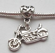 Motorcycle Dangle For Bracelets and Necklaces by BeDazzledByBeads, $2.50