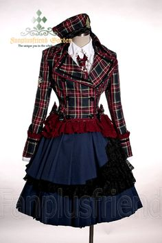 Scholastic Lolita High Waist Pleated Tired Suspenders Skirt*2colors Instant Shipping $75
