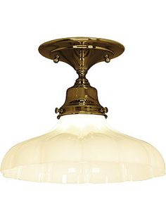 "Ceiling Mounted Light Fixture. Solid Brass Flush Mount Ceiling Fixture With 2 1/4"" Fitter"