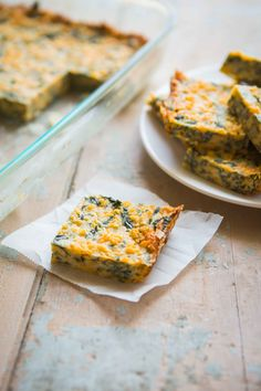 Cheesy Spinach Squares. Great for a quick appetizer, party or a side ...
