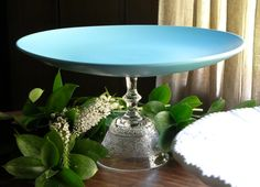 Tiffany Blue,clever use of a old glass and plate.