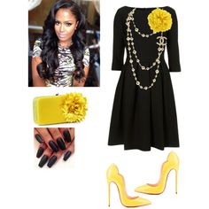 Official Night!!! by cogic-fashion on Polyvore featuring polyvore, fashion, style, Christian Louboutin, Bourne and Kate Spade