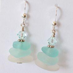 Sea Glass Earrings-3 - FishPrincessDesigns